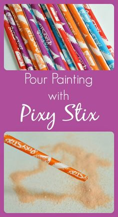 Pour Painting with Pixy Stix...fun scented process art for kids