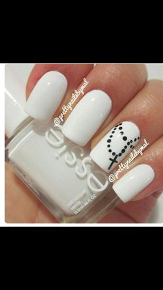 White Nails- love this! Creative and cool!