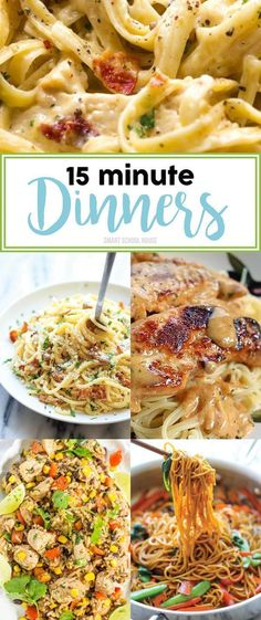 15 minute dinner ideas. It doesn't get any easier!