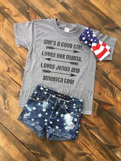 She's a good girl toddler shirt,Kids graphic tee, toddler tee, patriotic t shirt, Jesus tee, 4th of july, july 4th, Memorial Day shirt by InfinityDesignsShop on Etsy https://www.etsy.com/listing/351702481/shes-a-good-girl-toddler-shirtkids