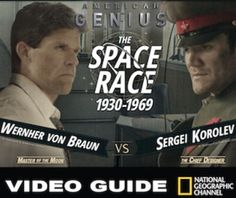 The Space Race Video Guide for National Geographic's American Genius: The Cold War documentary is a fast paced video that covers the struggle between the the U.S. and the Soviet Unions race to the moon. The video begins with the Americans discovering plans to the German V-2 Rocket and the acceleration of the Soviet Space program over the U.S.