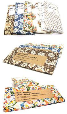 Tabletas de chocolate con hermoso packaging