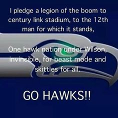 Game time tomorrow, whooping it up with the gang!!! GO SEAHAWKS!!!