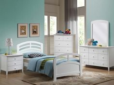ACME San Marino Bedroom White - The SanMarino transitional youth bedroom collection features clean lines and expert construction in white finish.