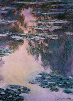 pantsofsand: paintingses: Water Lilies by Claude Monet (1840-1926) oil on canvas, 1907 <3