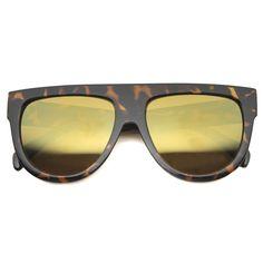 8b3e4084952e Oversize Flat Top Aviator Flash Revlo Lens Sunglasses 9961 Color Lenses