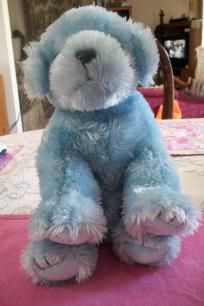TY Beanie Baby blue sparkles puppy FREE-SHIPPING