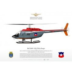"""UH-57B """"Jet Ranger"""" Chile JP-0959B Military Helicopter, Military Aircraft, Ranger, Contemporary History, Old Planes, Aviation Art, Diecast, Cutaway, Choppers"""