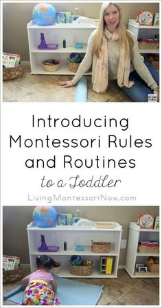 Ideas for introducing Montessori rules and routines to toddlers at their own pace. Montessori Homeschool, Montessori Classroom, Montessori Activities, Infant Activities, Learning Activities, Montessori Infant, Montessori Kindergarten, Montessori Quotes, Montessori Practical Life