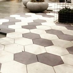 Dwell on Design Pavement Design, Outdoor Pavers, Dwell On Design, Paving Pattern, Paving Design, Small Garden Landscape, Paving Ideas, Porch Flooring, Concrete Pavers