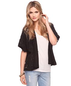 Forever 21: Open Lace Cardigan $27.80