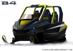 The B4 Snowmobile concept