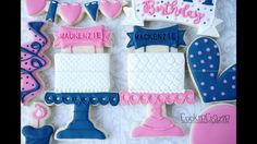 Cake on Pedestal Cake Stand Decorated Cookie Tutorial Video