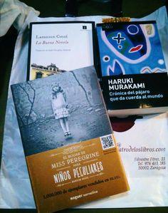 LOS LIBREROS TAMBIÉN LLORAN...  Con algunas ventas...y de alegría. Miss Peregrine, Haruki Murakami, Cover, Books, Peculiar Children, Cry, Zaragoza, Novels, Libros