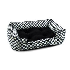 MacKenzie-Childs | Courtly Check Lulu Pet Bed - Medium Cat Paws, Dog Cat, Paws Rescue, Pet Collars, Pet Beds, Pet Accessories, Cats And Kittens, Fur Babies, Your Pet