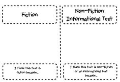 Fiction/Non-fiction Sort and Assessment - Freebie