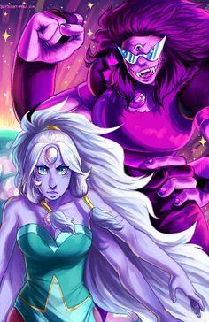 Sugilite and opal