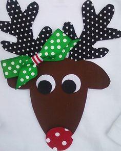 diy reindeer shirt | DIY Christmas Reindeer -- Female -- Fabric NO SEW Iron On Applique