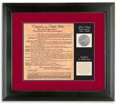 Birth of a Nation Bill of Rights Wall Framed Memorabilia