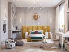 Russian Contemporary Apartment with Boca do Lobo by Ekaterina Lashmano Baby Room Decor, Bedroom Decor, 50s Bedroom, White Bedroom, Zeitgenössisches Apartment, Luxury Kids Bedroom, Luxury Bedding, Contemporary Apartment, Kids Room Design