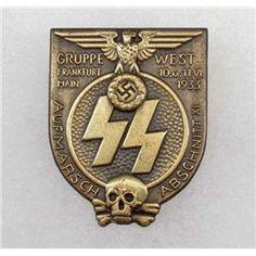 German Nazi SS 1933 Gruppe Frankfurt Badge