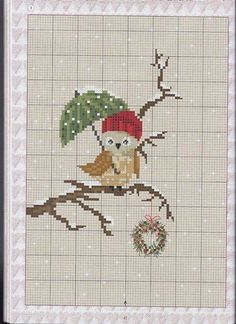 Cross Stitch Etamine Owl Templates 36 M Cross Stitch Geometric, Cross Stitch Owl, Cross Stitch Animals, Cross Stitch Charts, Cross Stitch Designs, Cross Stitching, Cross Stitch Embroidery, Cross Stitch Patterns, Hand Embroidery