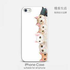 韩国简约素描插画风六只萌猫咪苹果5s iphone6 plus 原创意手机壳-淘宝网