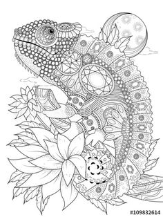 Pattern Coloring Pages, Printable Adult Coloring Pages, Animal Coloring Pages, Coloring Book Pages, Zen Colors, Mosaic Animals, Zentangle Patterns, Zentangles, Mandala Coloring