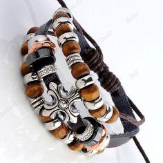 Beaded clovers alloy fittings multilayer Bracelet