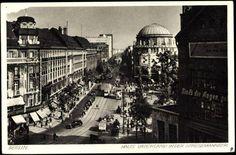 Berlin 1930 Die Stresemannstrasse am Potsdamerplatz mit dem Haus Vaterland