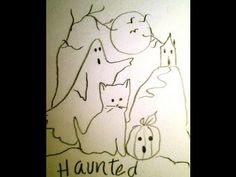 Draw a haunted house party