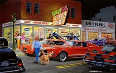 Crazy Ed's Speed Shop ~ Bruce Kaiser