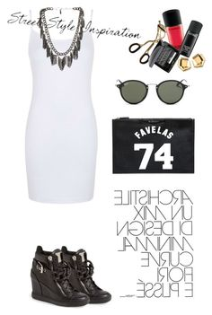 """""""Untitled #68"""" by zemaasg ❤ liked on Polyvore featuring Topshop, Ettika, Ray-Ban, Givenchy and Giuseppe Zanotti"""