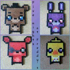 Five Nights at Freddy's perler beads | Crafty Amino