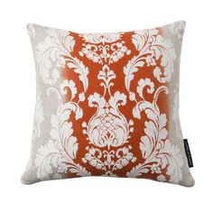 Camelia Damask Flamingo Square Cushion