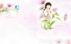 Kim Jong Bok - Cartoon Cute Fairy Girl - Art Illustration : Cute Flower Girl in Spring 18 Cute Anime Girl Wallpaper, Cartoon Wallpaper Hd, Fairy Wallpaper, Cartoon Girl Images, Cute Cartoon Girl, Korean Illustration, Cute Illustration, Cartoon Illustrations, Digital Illustration