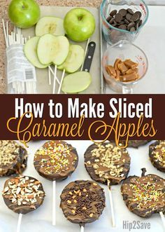 Caramel Chocolate Apple Slices (Easy to Eat) – (thanksgiving desserts easy) Caramel Chocolate Apple Slices- use apple core, slice then put mini oreo in the middle! Love caramel apples, but find them to be kind of a pain to make and to eat? Fall Recipes, Holiday Recipes, Fall Dessert Recipes, Chocolate Apples, Ghirardelli Chocolate, Melted Chocolate, Hot Chocolate Gifts, Chocolate Covered Fruit, Chocolate Turtles