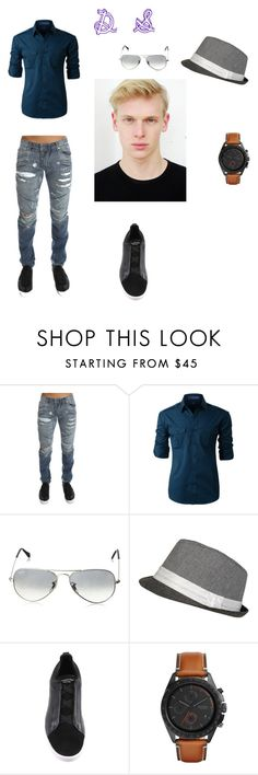"""""""DS"""" by denissalihovic ❤ liked on Polyvore featuring Pierre Balmain, LE3NO, Ray-Ban, Ermenegildo Zegna, FOSSIL, men's fashion and menswear"""