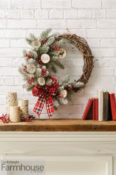Get set to celebrate the holidays with this brand-new special issue -- Farmhouse Style Christmas! Packed with festive decorating displays, fun DIYs, exciting entertaining ideas and gift-giving inspiration, it will help make your season joyful. Country Sampler, Festival Decorations, Mantels, Joyful, Hearth, Farmhouse Style, Festive, Diys, Christmas Wreaths