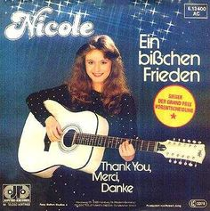 Eurovision song contests winner of 1982; Nicole with Ein bißchen Frieden for Germany.