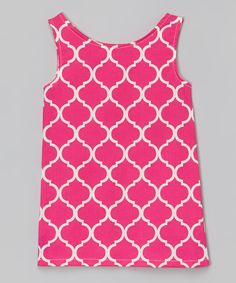 Look at this #zulilyfind! Lolly Gags Fuchsia Quatrefoil Shift Dress - Infant, Toddler & Girls by Lolly Gags #zulilyfinds