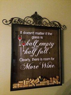 Wine Cork Holder wine cork saver shadow box by MadeAtTheLake