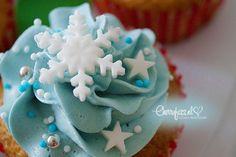 CherryFizz.nl – Loving family life » Winter 'Elsa' cupcakes voor het kerstdiner op school