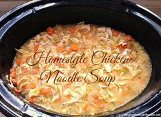 Slow Cooker Chicken Noodle Soup – I never imagined how close to my dad's homemade soup this would taste! It immediately brought back memories of the chicken noodle soup I tasted many times as a child. #soup #chickennoodlesoup