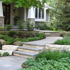 Prarie style, stone steps