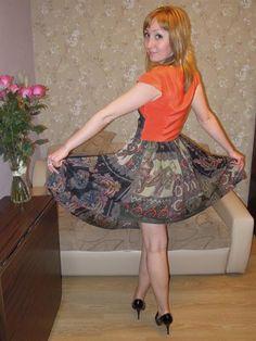 Надень мое шелковое платье