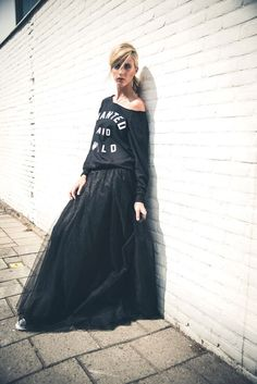 """Long tulle skirt """" Smooth"""" Rocking ballerina Wanted and wild Www.raine.nl"""