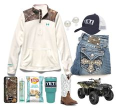 """""""Would defiantly wear this, only if Florida ever had a winter lol"""" by southernfloridabelle97 ❤ liked on Polyvore featuring Under Armour, AK Anne Klein, Polaris and Laredo"""
