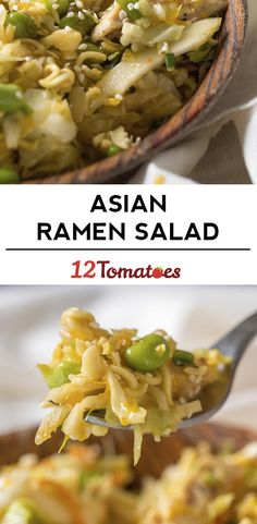 Asian Ramen Noodle Salad. I want to make this with veggie chicken strips.