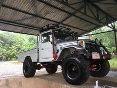 HJ45 Toyota Fj Cruiser, Toyota Trucks, Toyota 4runner, Cool Trucks, Pickup Trucks, Landcruiser Ute, Land Cruiser 70 Series, Jeep 4x4, Custom Tacoma
